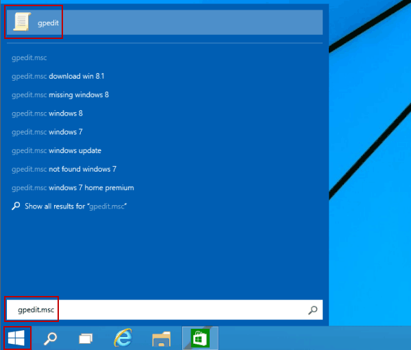 access local group policy editor from start menu 5 Cách Mở Group Policy Editor Trong Windows 10