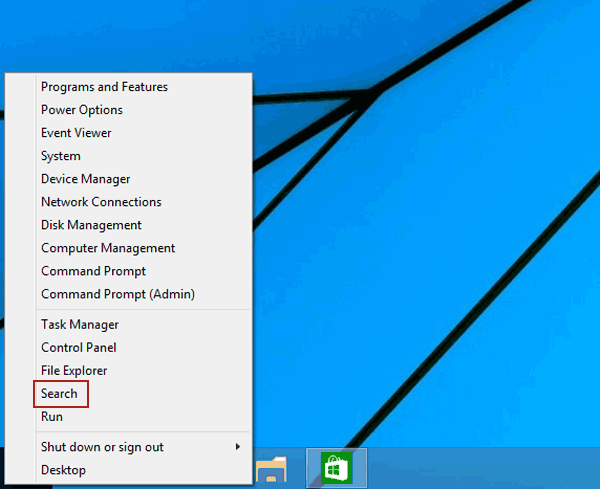 choose search in quick access menu 5 Cách Mở Group Policy Editor Trong Windows 10