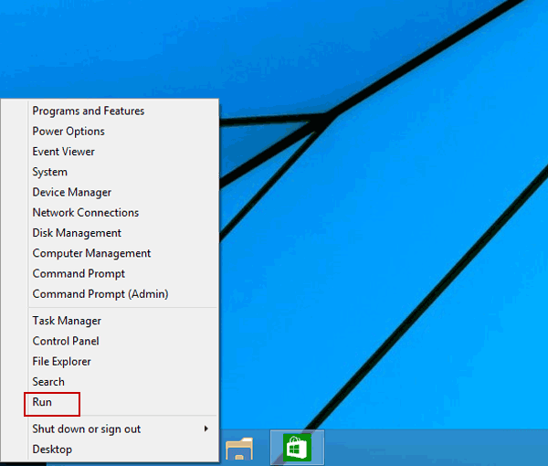 open run on quick access menu 5 Cách Mở Group Policy Editor Trong Windows 10