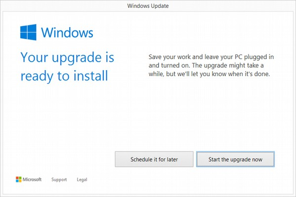 start upgrade windows 10 Hướng dẫn cài đặt Windows 10