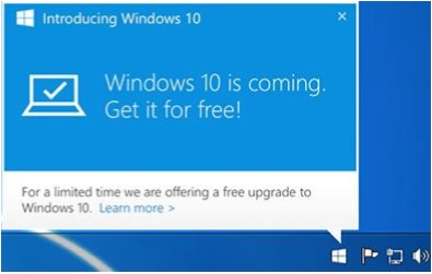 windows10 notification Hướng dẫn cài đặt Windows 10